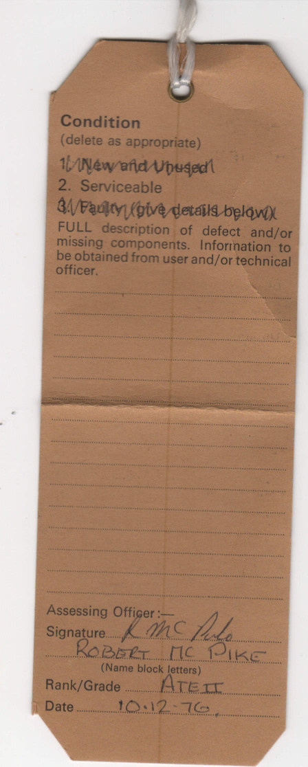 Marconi label rear